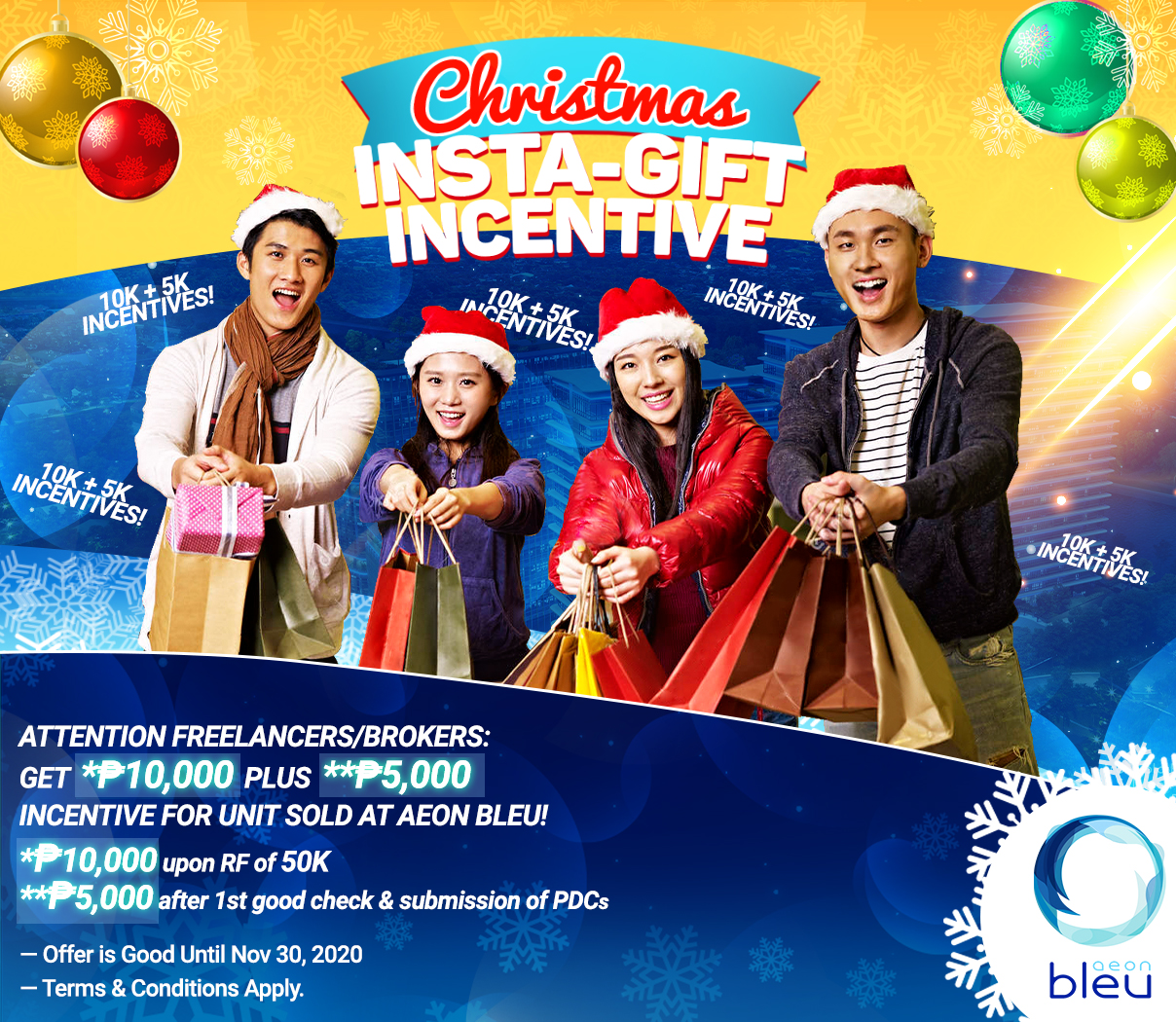 Aeon Bleu Instagift Incentive for sellers